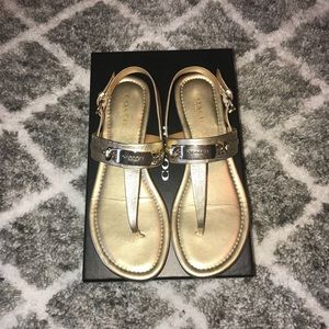 Coach Catherine gold sandals